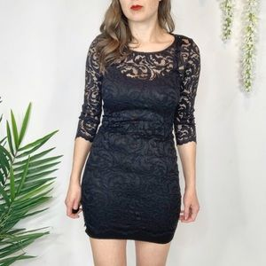 VELVET by GRAHAM & SPENCER black lace dress